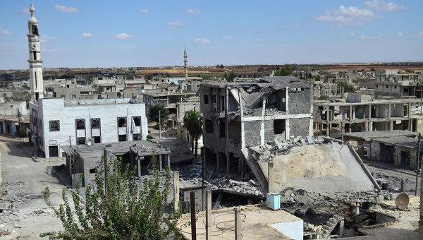 Вид сирийского города Хомс. 30 сентября 2015. Архивное фото