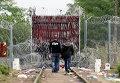 Беженцы из стран Ближнего Востока на сербско-венгерской границе