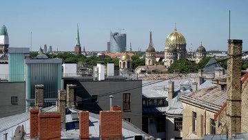 На крыше Риги. Архивное фото