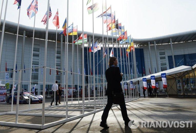 На территории Олимпийского парка на Международном инвестиционном форуме Сочи-2015