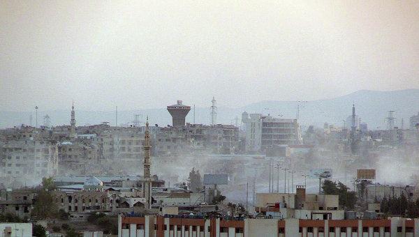 Боевые действия в пригороде Дамаска. Архивное фото
