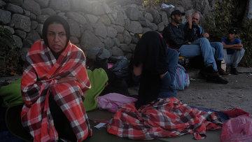 Ситуация с беженцами на, архивное фото
