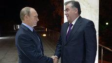 Рабочая встреча президента РФ В.Путина с президентом Таджикистана Э.Рахмоном. Архивное фото