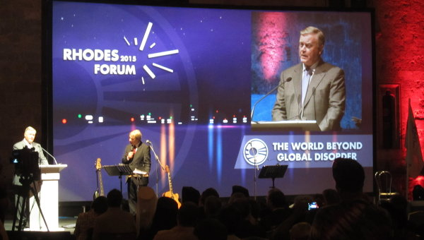 Владимир Якунин на открытии 13-го Родосского форума