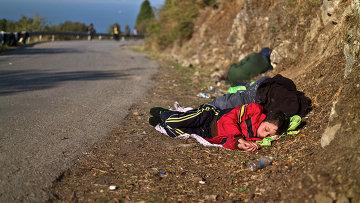 Сирийский мальчик-беженец, архивное фото