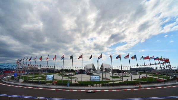 Трасса российского этапа чемпионата мира по кольцевым автогонкам в классе Формула-1. Архивное фото