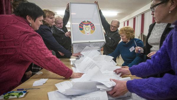 Подсчёт голосов во время выборов на пост президента Белоруссии