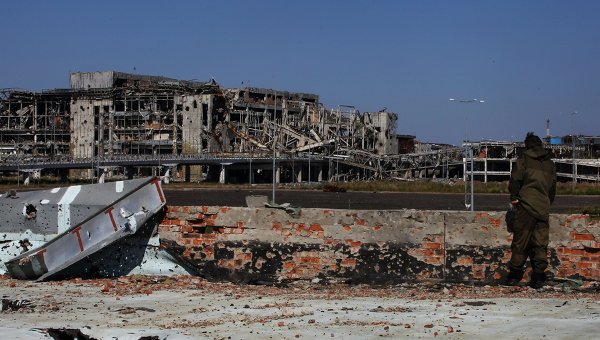 Здание аэропорта города Донецка. Архивное фото