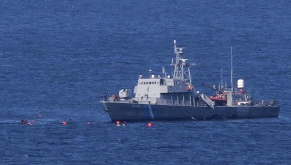 Корабль береговой охраны. Архивное фото