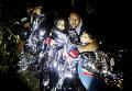 Мигранты после прибытия на греческий остров Лесбос