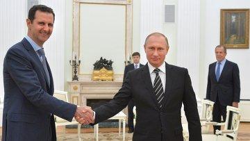 Президент России В.Путин встретился с президентом Сирии Б.Асадом. Архивное фото