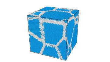 Модель поликристаллического алмаза, созданная в МФТИ