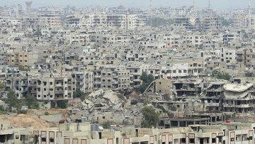 Район Дамаска Джобар, захваченный боевиками. Архивное фото
