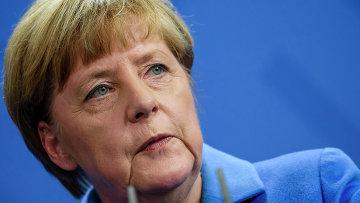 Канцлер Германии Ангела Меркель во время пресс-конференции с премьер-министром Украины в Берлине. Архивное фото