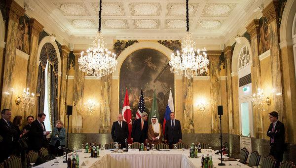 Министерская встреча России, США, Саудовской Аравии и Турции по Сирии в Вене. Архивное фото.
