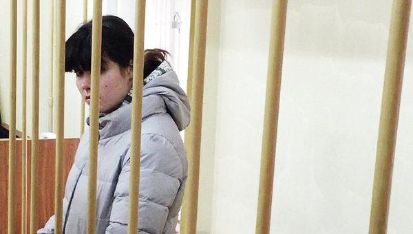 Студентка МГУ Варвара Караулова в зале заседаний Лефортовского суда Москвы, архивное фото