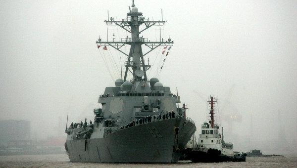 Ракетный эсминец Лассен ВМС США.
