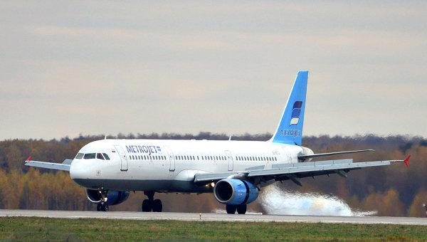 Самолет Airbus A321 авиакомпании Metrojet