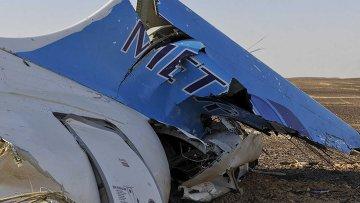 Обломки самолета Когалымавиа на месте крушения в Египте. 31 октября 2015