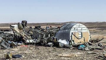 Обломки самолета Airbus A321 компании Когалымавиа, выполнявшего рейс из Шарм-эль-Шейха в Санкт-Петербург. 1 ноября 2015