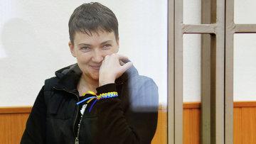 Гражданка Украины Надежда Савченко, обвиняемая в гибели российских журналистов в Донбассе, на заседании Донецкого городского суда Ростовской области. Архивное фото