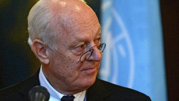 Специальный посланник ООН по Сирии Стаффан де Мистура. Архивное фото.