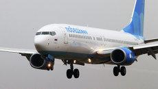 Самолет российской низкобюджетной авиакомпании Победа, осуществивший первый рейс по маршруту Москва-Калининград