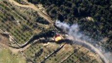 Самолеты российских Воздушно-космических сил нанесли авиационный удар по укрепленному опорному пункту боевиков в провинции Латакия в Сирии