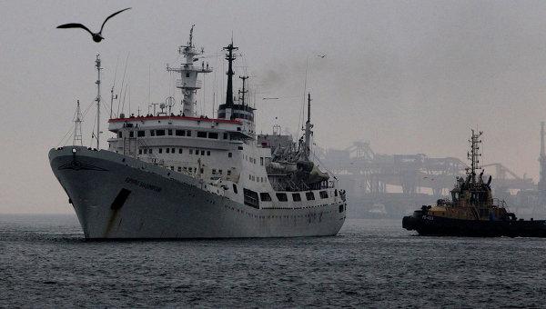Исследовательское судно Адмирал Владимирский. Архивное фото