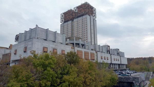 Здание президиума РАН на Ленинском проспекте в Москве. Архивное фото