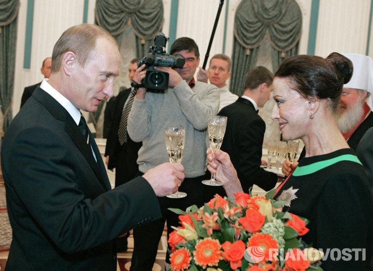 Президент РФ Владимир Путин и балерина Майя Плисецкая