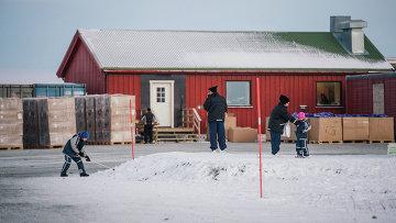 Лагерь для беженцев в районе города Киркенес на севере Норвегии. Архивное фото.