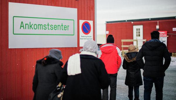 Лагерь для беженцев в районе города Киркенес на севере Норвегии. Архивное фото