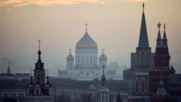 Вид на центр Москвы с крыши Центрального детского магазина на Лубянке