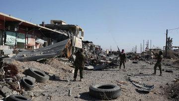 Курдские вооруженные силы в городе. Архивное фото