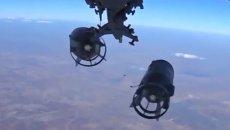Снаряды самолета Военно-космических сил России, вылетевшего для нанесения массированного удара по объектам инфраструктуры ИГ в Сирии