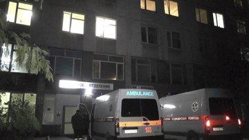 Больница в Севастополе во время отключения электроэнергии в Крыму, 22 ноября 2015