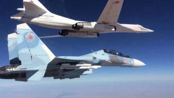 Боевые вылеты Дальней авиации ВВС РФ. Архивное фото