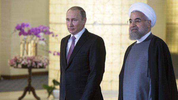 Путин и Хасан Роухани. Архивное фото