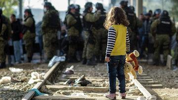 Девочка-беженка. Ноябрь 2015