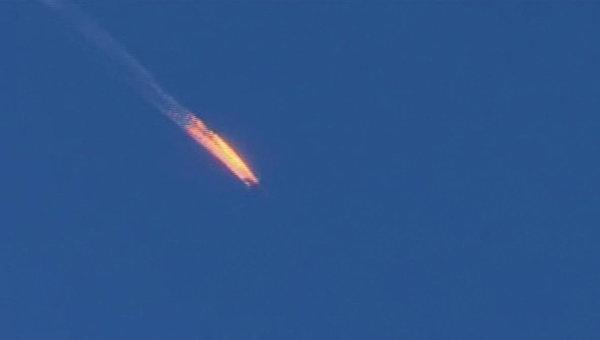 Самолет Су-24, потерпевший крушение на границе Сирии и Турции