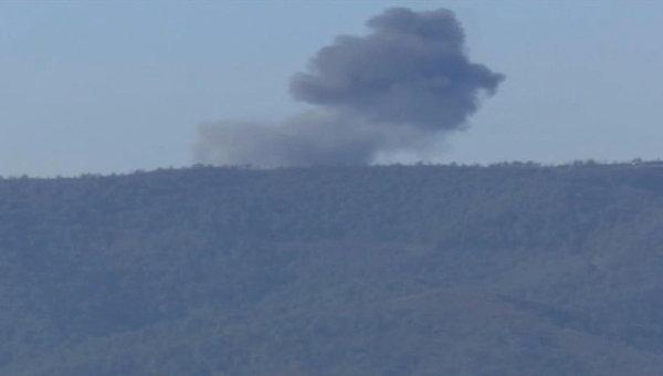 Самолет Су-24, сбитый на границе Сирии и Турции. Архивное фото