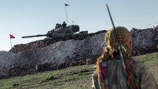 Танк турецкой армии возле границы с Сирией. Архивное фото
