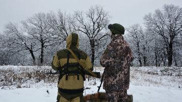 Военнослужащие Народной милиции ЛНР (бригада Призрак). Архивное фото