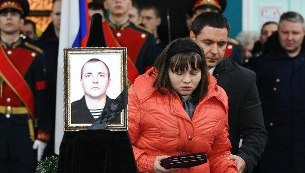 Похороны погибшего в Сирии морпеха Александра Позынича в Новочеркасске