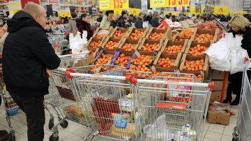 Работа гипермаркетов в Москве. Архивное фото
