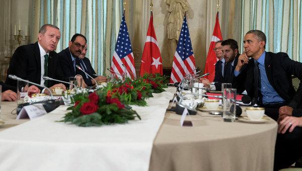 Президент Турции Тайип Эрдоган и президент США Барак Обама, архивное фото