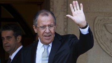 Министр иностранных дел Сергей Лавров в Президентском дворце в Никосии, Кипр