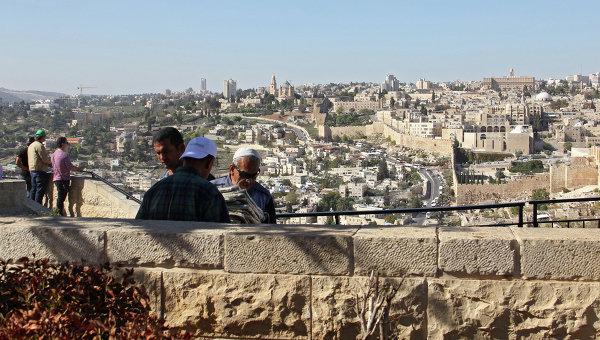 Вид на Иерусалим с Масличной горы, архивное фото