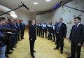Президент России Владимир Путин, министр энергетики РФ Александр Новак и глава Республики Крым Сергей Аксенов во время запуска первой очереди энергомоста в Крым